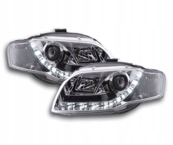 FAROS DELANTERO DAYLIGHT LED DRL AUDI A4 04-08 CROMO