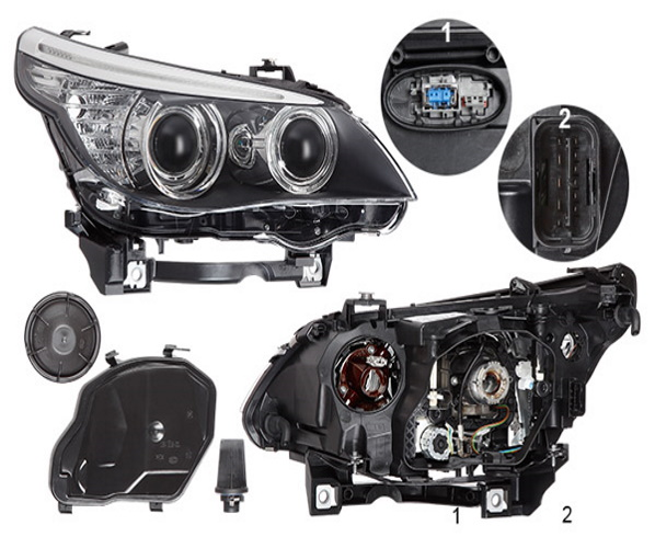 FARO PRINCIPAL DER. BMW 5 E60 E61 BI-XÉNON 07
